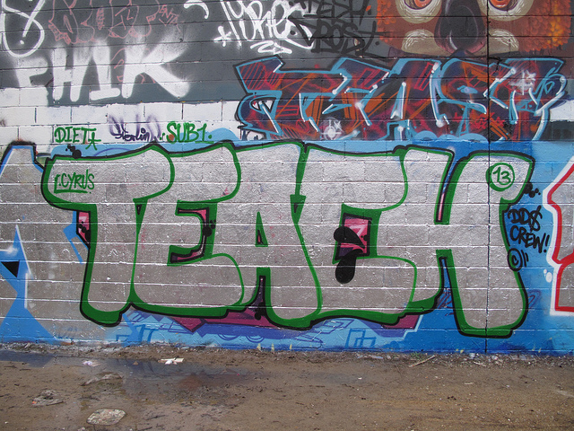 Teach graffiti, Trellick Tower by duncan c (CC BY-NC 2.0) https://flic.kr/p/hR8g11