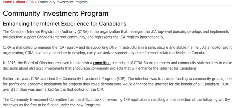 From Coding Kids to Internet Exchanges: CIRA Community Investment Program's First Round Recipients