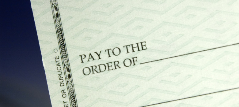 Pay to the order of... by Scott J. Waldron (CC BY 2.0) https://flic.kr/p/FtDtt