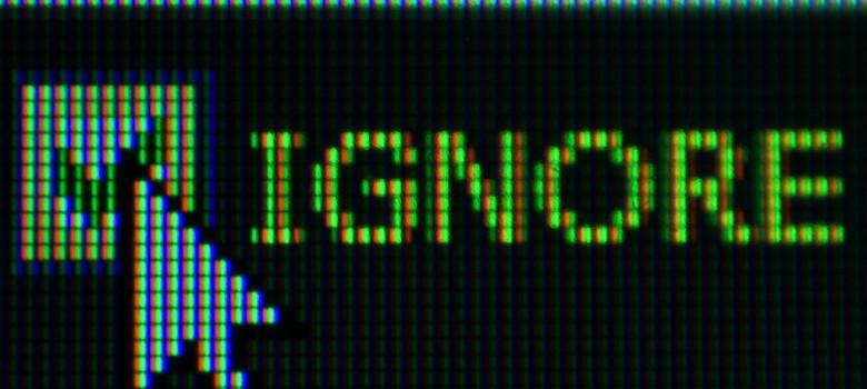 Ignore Point by Daniel Kulinski (CC BY-NC-SA 2.0) https://flic.kr/p/aPcRB2