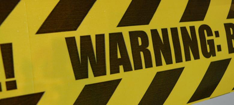 warning by m.p.3. (CC BY-NC-ND 2.0) https://flic.kr/p/7YzcPQ