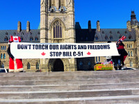 Toronto Activists protest against Harper's Bill C-51 on Parliament Hill by Obert Madondo (CC BY-NC-SA 2.0) https://flic.kr/p/rQRhnt
