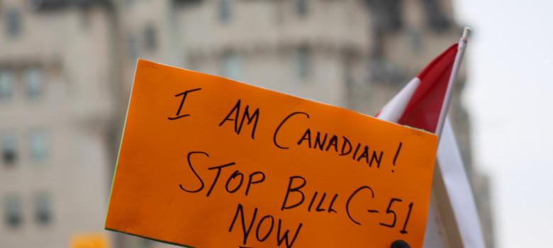 Stop Bill C-51 #IAmCanadian by Mike Gifford (CC BY-NC 2.0) https://flic.kr/p/riAaQD