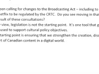Behind the Scenes of the Digital CanCon Consultation: No Netflix Regs, CRTC Review or Copyright Overhaul