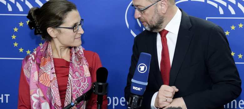 President Schulz meets Minister Freeland by Martin Schulz (CC BY-NC-ND 2.0) https://flic.kr/p/Mz3yij