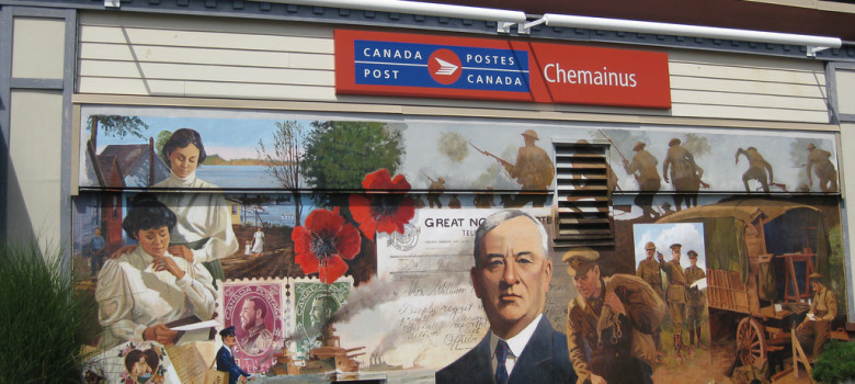 Canada Post mural (Chemainus, BC) by wyn ♥ lok (CC BY-NC-ND 2.0) https://flic.kr/p/afdVkP