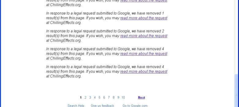 Google Internet Censorship by Dr Les (Leszek - Leslie) Sachs (CC BY 2.0) https://flic.kr/p/ai6w7F