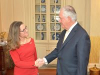 Secretary Tillerson Greets Canadian Foreign Minister Freeland Before Their Bilateral Meeting in Washington by U.S. Department of State U.S. Government Works https://flic.kr/p/RX7DzR