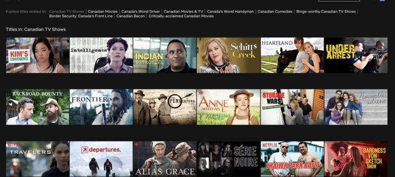 Netflix Canadian TV Shows
