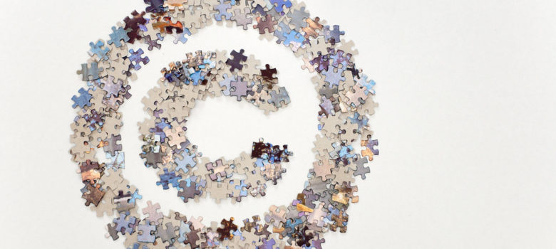 Large copyright sign made of colorful jigsaw puzzle pieces by Horia Varlan https://flic.kr/p/8nDt9B (CC BY 2.0)