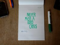 "#closetlefty No.1, Nov 2, 2011: ""Never Miss A Good Crisis"" by Anna Lena Schiller (CC BY-NC-ND 2.0) https://flic.kr/p/aBitkE"