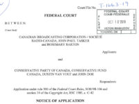 CBC Lawsuit vs. Conservative Party