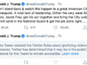 Trump tweet, May 29. 2020 https://twitter.com/realDonaldTrump/status/1266231100780744704?s=20