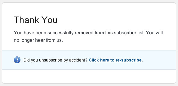 E-mail unsubscribe design pattern by Per Axbom https://flic.kr/p/9fNk5f (CC BY-SA 2.0)