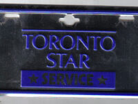 "TORONTO, ONTARIO 1960'S TORONTO STAR NEWSPAPER DELIVERY BICYCLE plate by Jerry ""Woody"" https://flic.kr/p/5uYXR1 (CC BY-SA 2.0)"