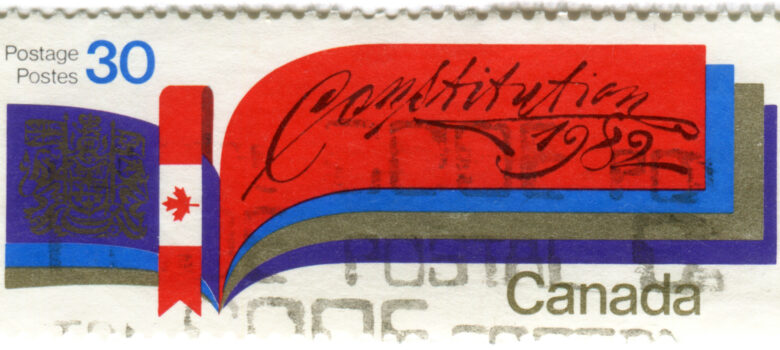 Canada postage stamp: constitution by Karen Horton (CC BY-NC-ND 2.0) https://flic.kr/p/9YFxLN